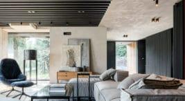 Eleganckie wnętrze domu projektu pracowni ANNA THUROW Architektura Wnętrz