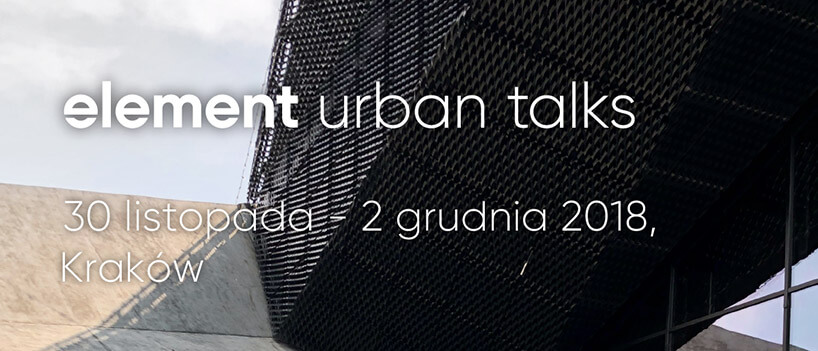 konstrukcja zosłoną ze splecionych drutów inapisem element urban talks