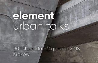 zdjęcie betonowych struktur z napisem element urban talks