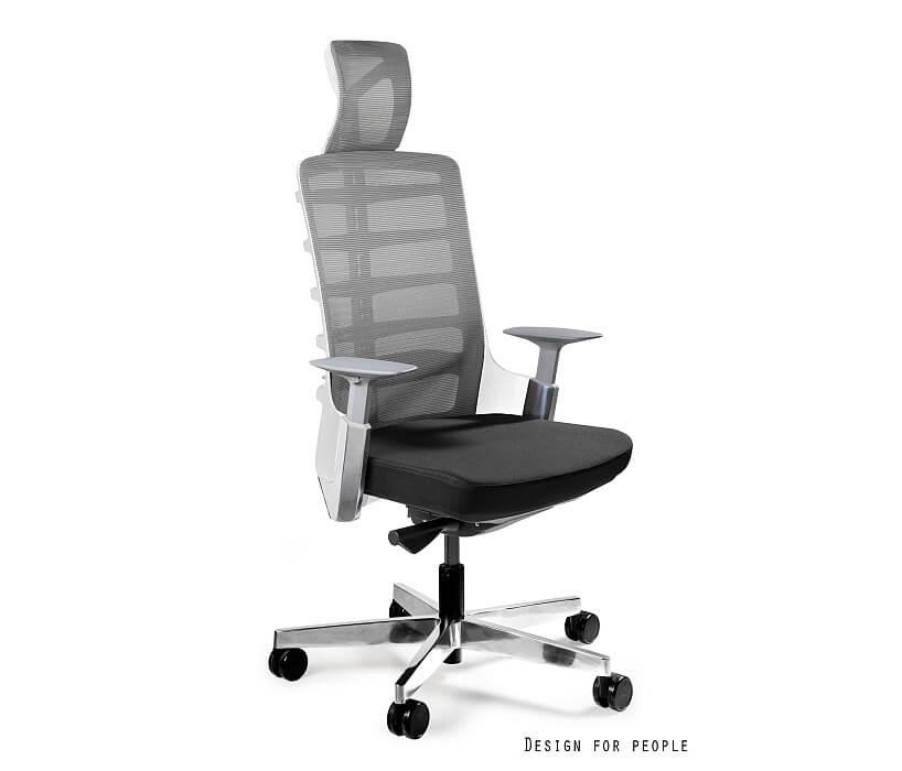 szaro-czarny ergonomiczny fotel biurowy