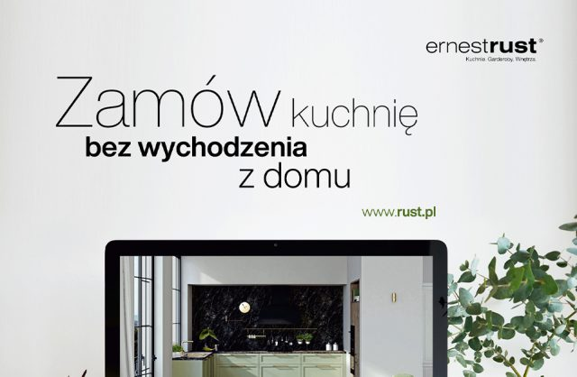 plakat kampanii ernestrust Zamów kuchnię bez wychodzenia z domu