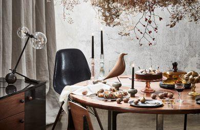 udekorowany stół świąteczny