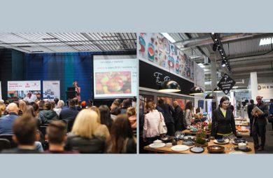 dwa zdjęcia z targów EuroGastro i WorldHotel
