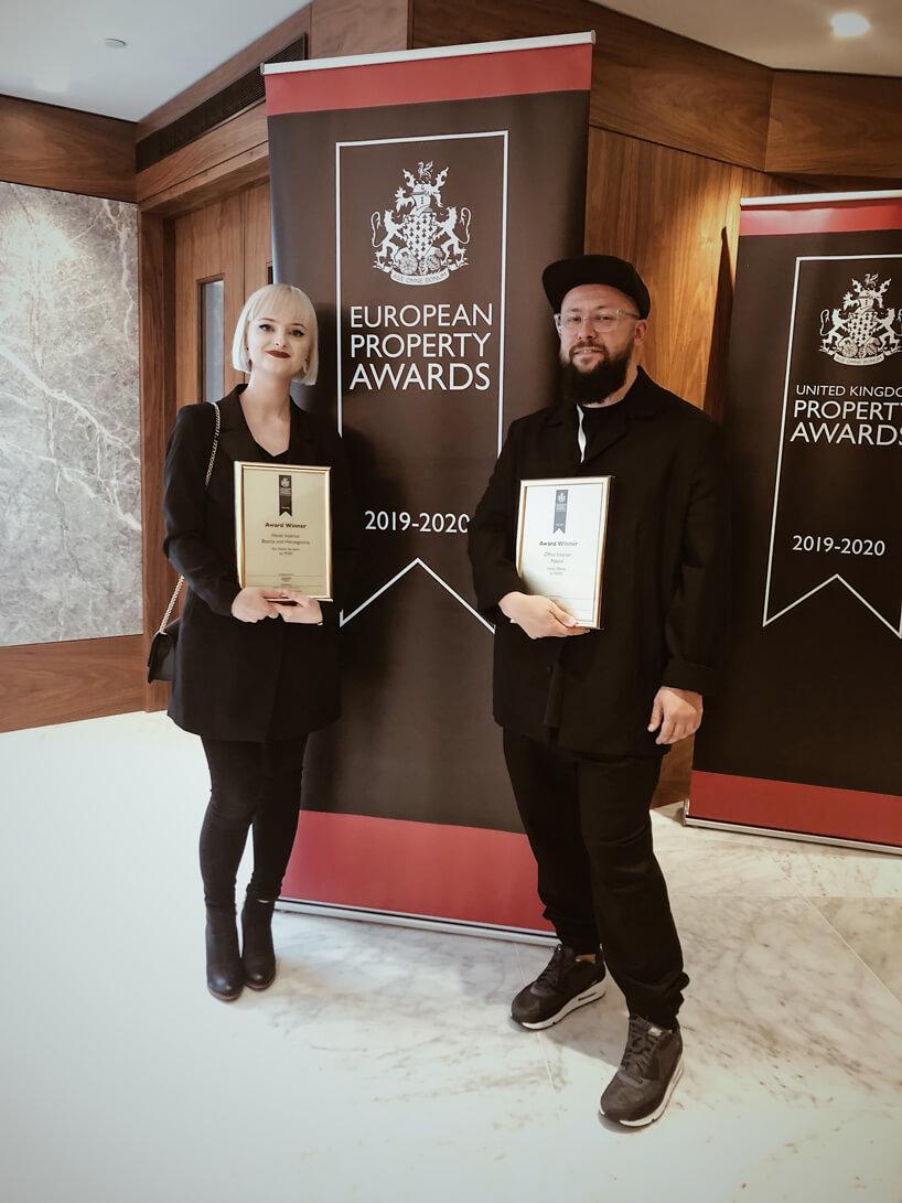 Katarzyna Majer-Hola iPiotr Kalinowski zMIXD znagrodami European Property Awards 2019/2020
