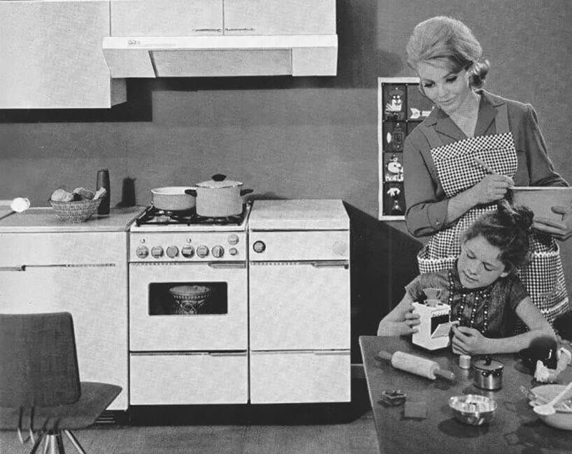 zdjęcie starej kampanii reklamowej kuchni