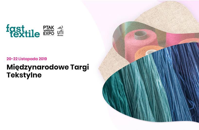 zaproszenie na targi Fast Textile 2019