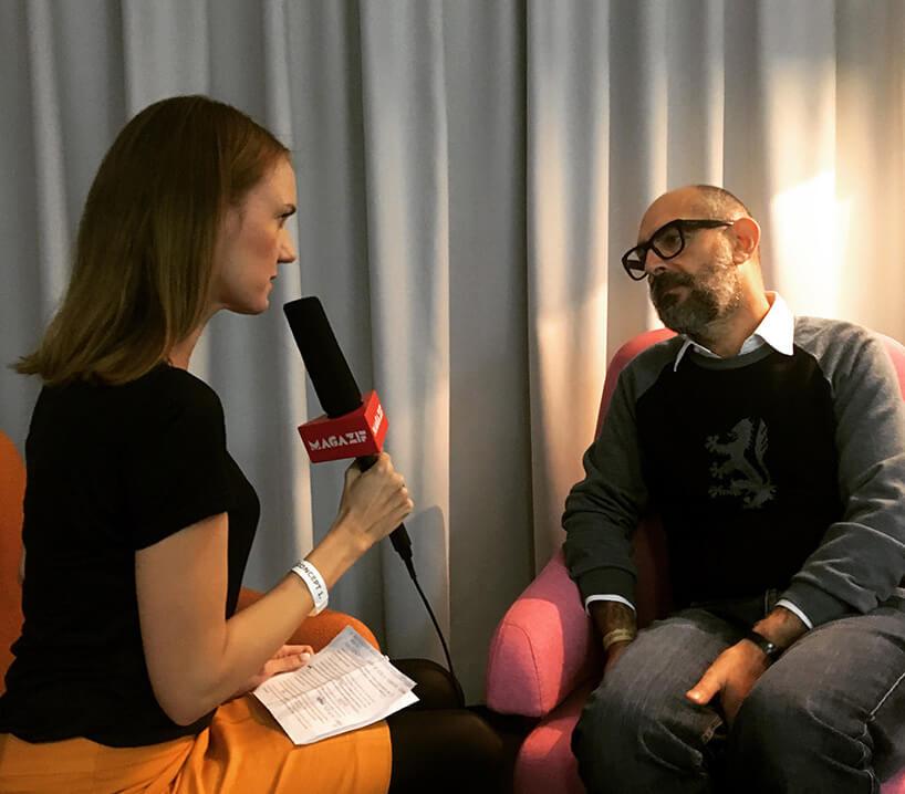 Redaktor naczelna MAGAZIF, Anna Strożek podczas wywiadu