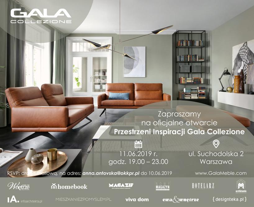 zaproszenie na otwarcie nowego salonu Gala Collezione