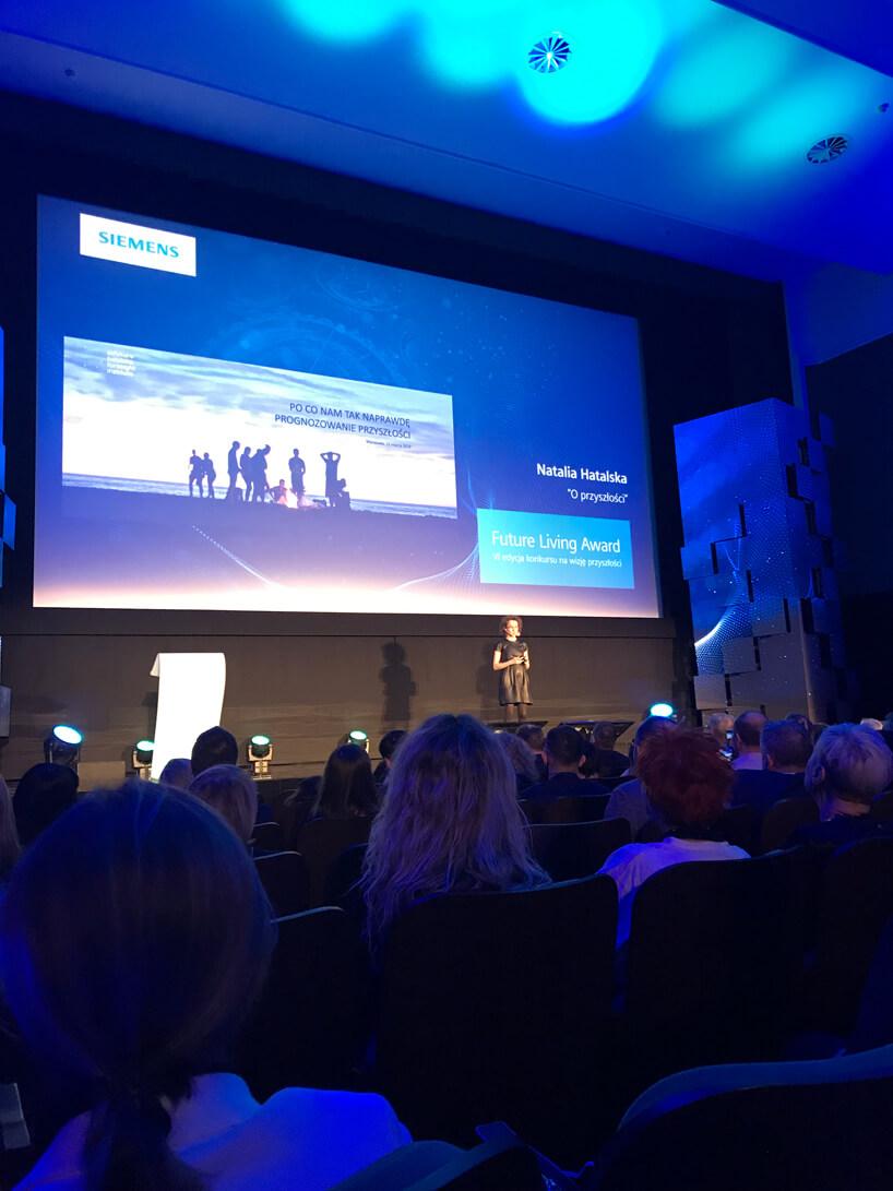 wykład Natalii Hatalskiej podczas Siemens Future Living Award 2018