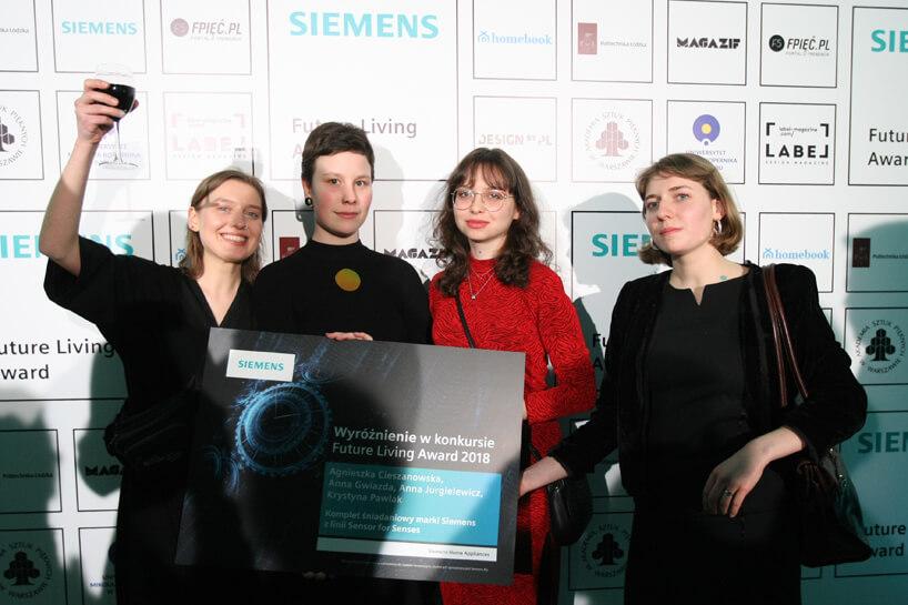 cztery wyróżnione kobiet podczas Siemens Future Living Award 2018