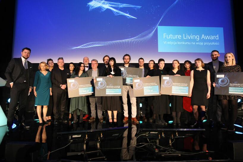 wszyscy nagrodzeni wkonkursie Siemens Future Living Award 2018