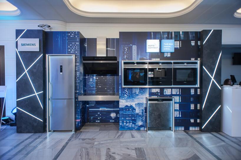 nowoczesna aranżacja kuchni podczas Siemens Future Living Award 2018