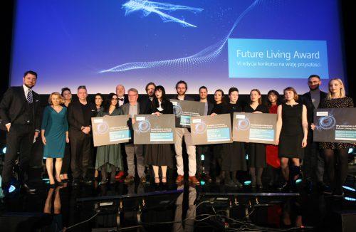 na scenie wszyscy nagrodzeni w konkursie Siemens Future Living Award 2018