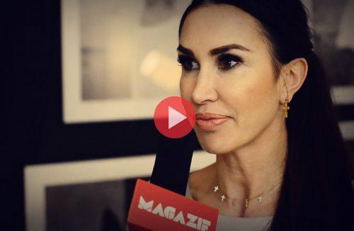 Katarzyna Paskuda podczas wywiadu dla MAGAZIF w galerii Heban
