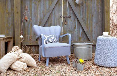 garbaty niebieski fotel