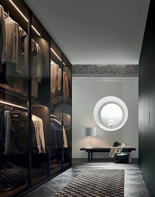 przeszklone szafy wgarderobie