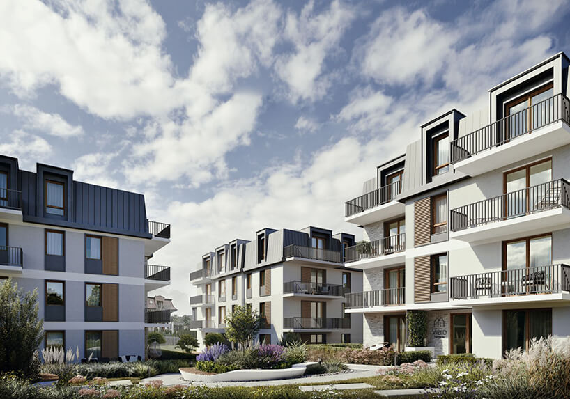 nowoczesne osiedle Vialo wGdańsku