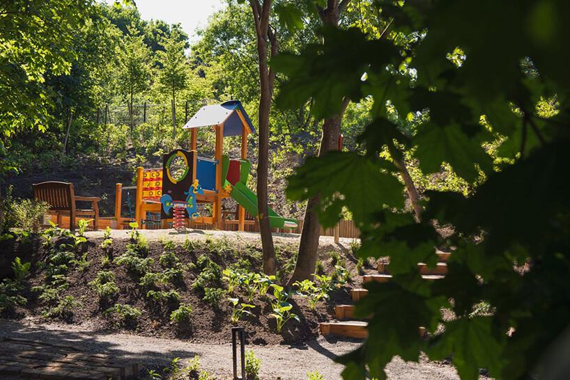 plac zabaw dla dzieci na osiedlu Vialo wwstylu hygge wGdańsku