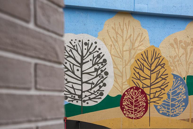 dekoracja ścian na osiedlu Vialo wwstylu hygge wGdańsku
