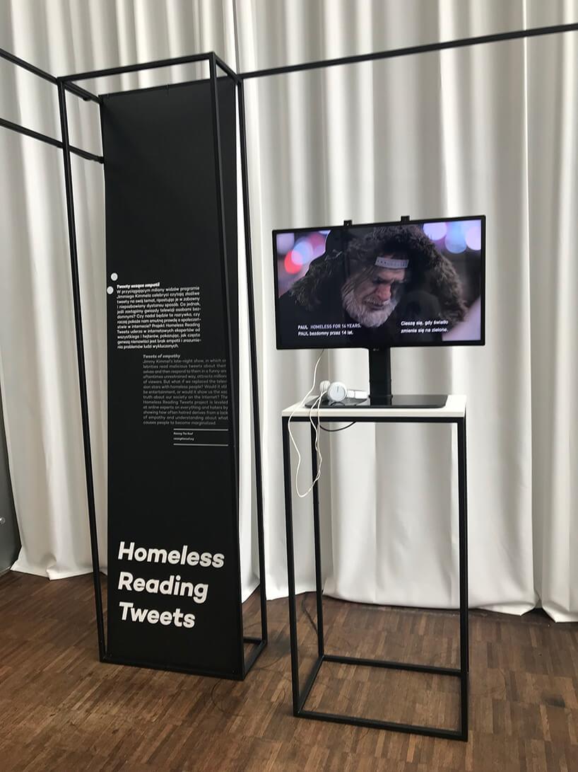 prezentacja projektu Homeless Reading Tweets na Gdynia Design Days 2019