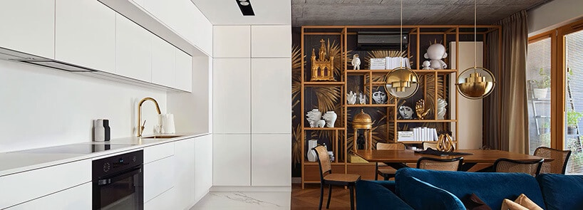 Lekcja geometrii idyskretne detale: mieszkanie wKrakowie