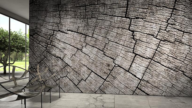grafika ścienna Glamora we wzór drewna