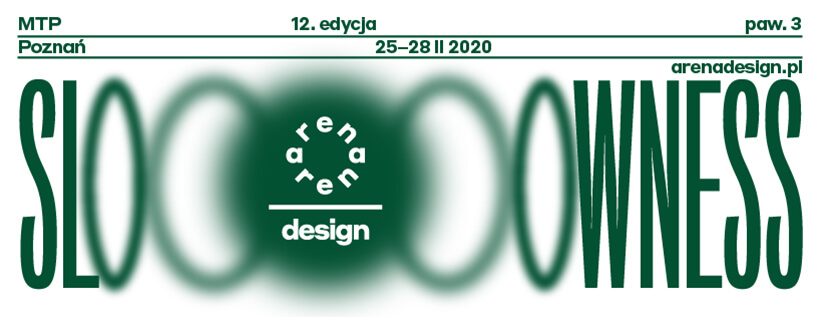 zielony plakat adrena design 2020 zhasłem SLOWNESS