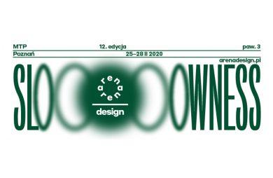 zielony plakat adrena design 2020 z hasłem SLOWNESS