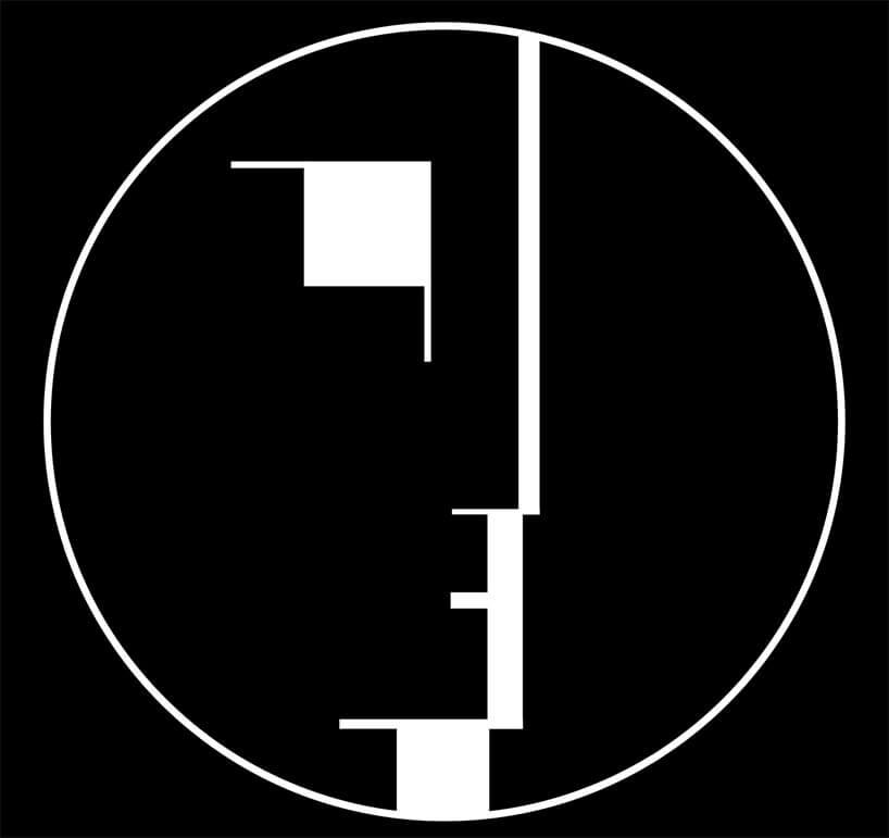 czarno-białe logo Bauhaus