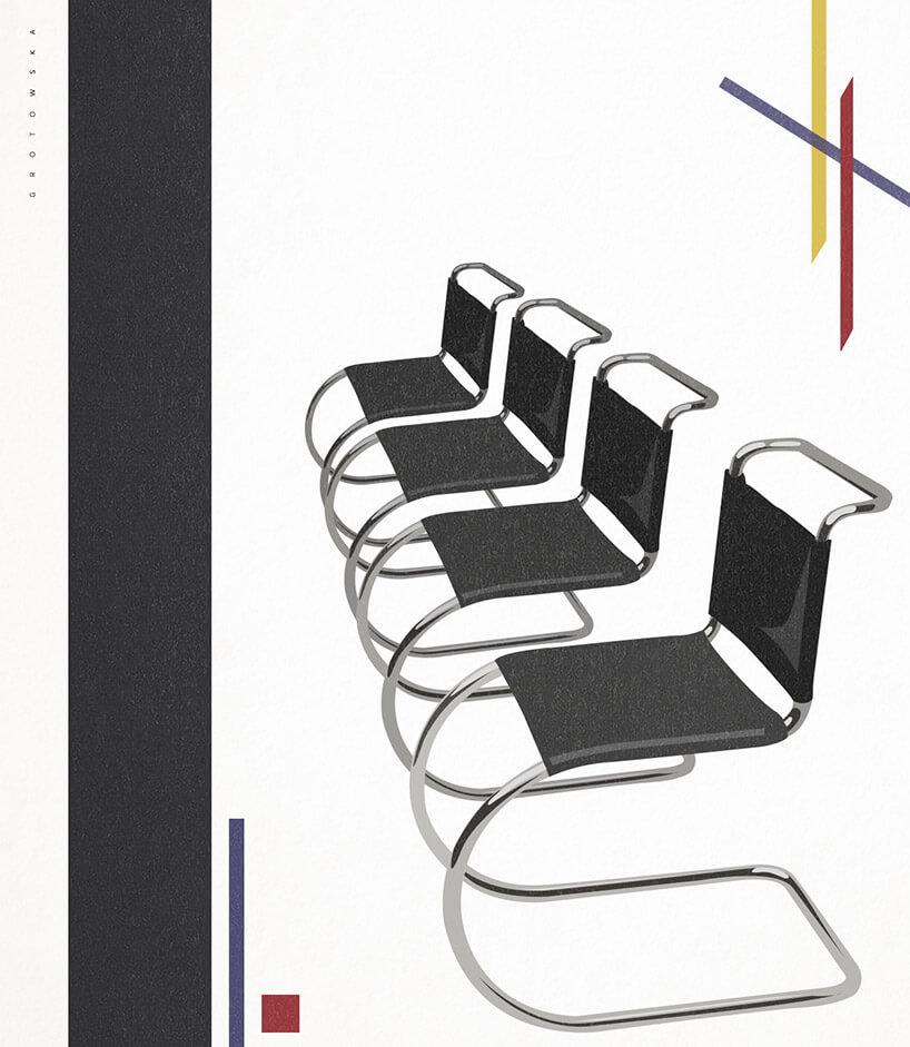 grafiki czarnych krzeseł konferencyjnych