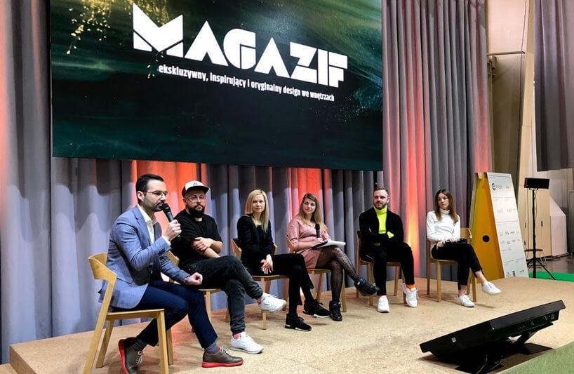 goście na panelu MAGAZIF na Arena Design 2019