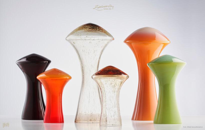 kolorowe szklane dekoracje