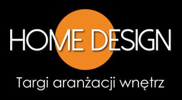 biało pomarańczowy logotyp Home Design 2020 na czarnym tle