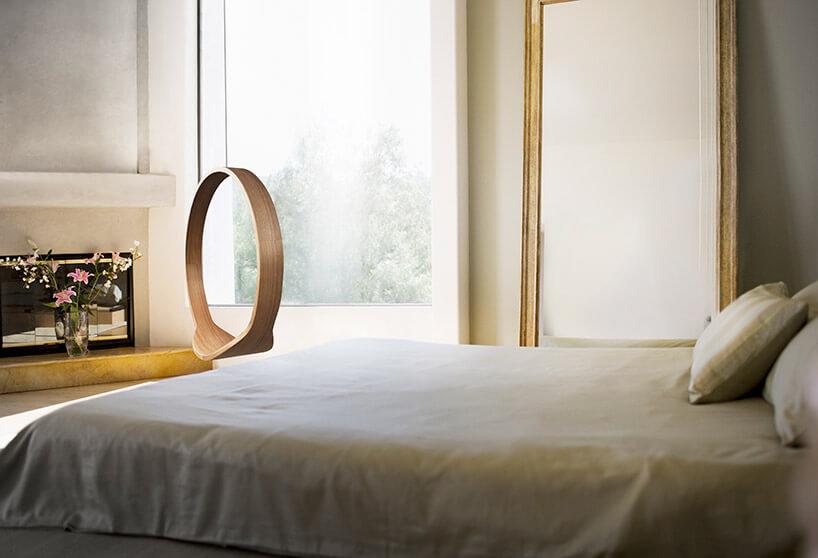 drewniana huśtawka SWING wsypialni