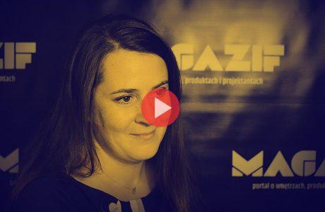 Berenike Miłkowska - weloveoriginal - podczas wywiadu dla MAGAZIF na Warsaw Home 2018