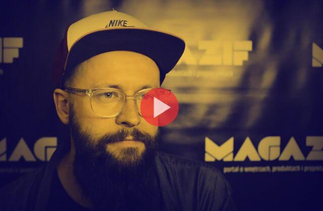 Piotr Kalinowski - Mixd - podczas wywiadu dla MAGAZIF na Warsaw Home 2018