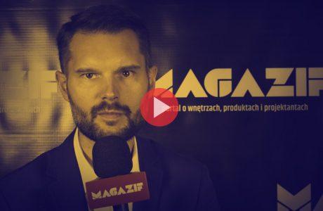 Dominik Czylkowski - Galeria NOTI - podczas wywiadu dla MAGAZIF na Warsaw Home 2018