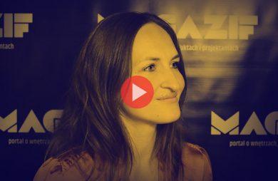 Olga Kisiel-Konopka podczas wywiadu dla MAGAZIF na Warsaw Home 2018