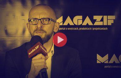 Michał Drożdż - Ceramika Paradyż - podczas wywiadu dla MAGAZIF na Warsaw Home 2018