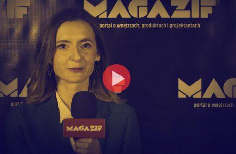 Anna Domin - RUST - podczas wywiadu dla MAGAZIF na Warsaw Home 2018