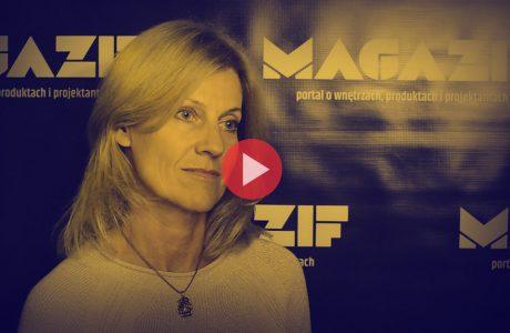 Julitta Maciejewska-Walczak - Swarzędz - podczas wywiadu dla MAGAZIF na Warsaw Home 2018