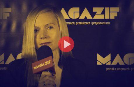 Anna Vonhausen podczas wywiadu dla MAGAZIF na Warsaw Home 2018