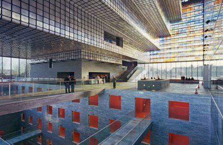 niesamowite wnętrze z pokazaną przestrzenią innych pięter