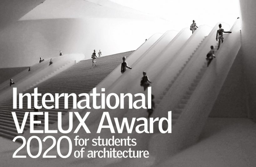 czarno biały plakat International VELUX Award 2020