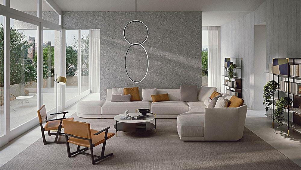 Jasna sofa: genialna baza do wnętrz