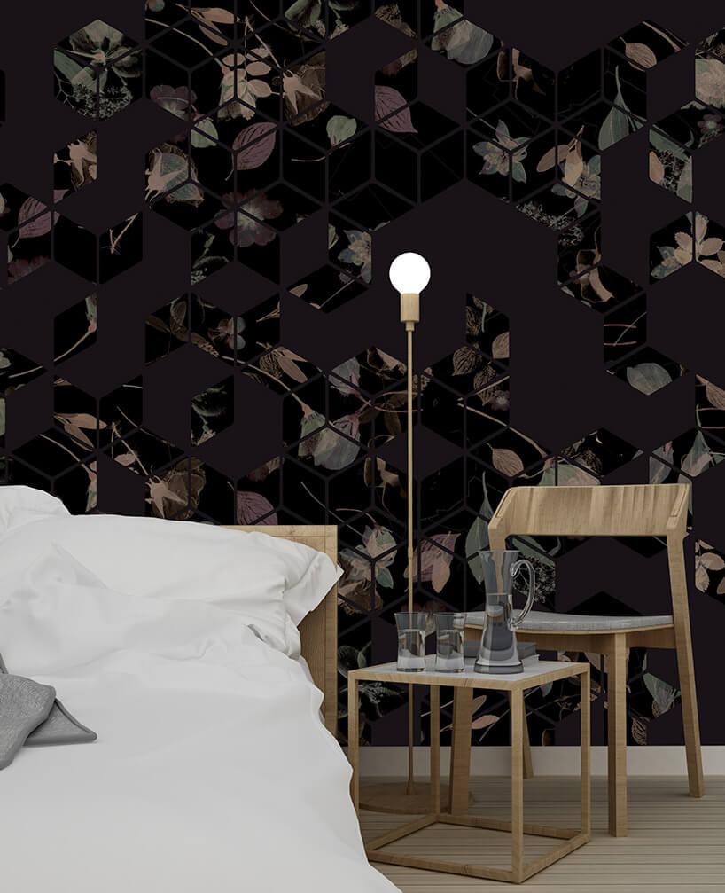 ciemna jesienna tapeta wsypialni