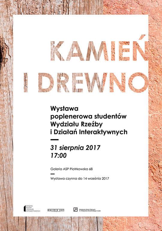 plakat wystawy Kamień iDrewno