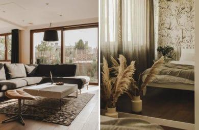Karmel, koniak, czekolada – ciepły apartament pełen światła
