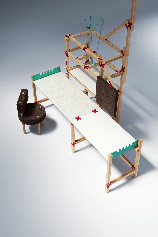 stół do pracy zdużym blatem