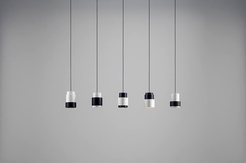 pięć lamp wiszących wrzędzie